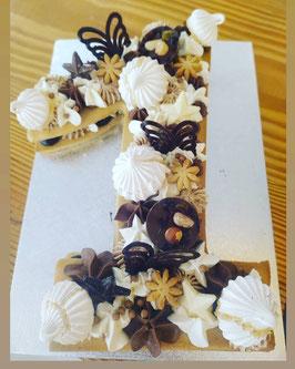 NUMBER CAKE CHOCOLAT PRALIN CROUSTILLANT