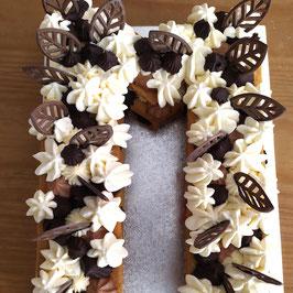 NUMBER CAKE POIRES CARAMEL BEURRE SALÉ