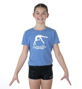 Girls T-Shirt by TURNSTERN blau marl