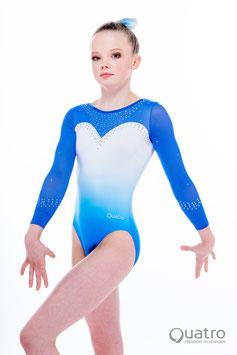 Quatro -  Skyline royal blue langarm