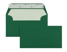 FARBIGE BRIEFUMSCHLÄGE Grün 110 x 220 mm (DIN Lang) | 100 g/qm Gerippt (Paperado)  | Ohne Fenster | Haftklebung | Gerade Klappe | 100 Stück