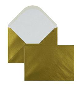 FARBIGE BRIEFUMSCHLÄGE GOLD 162 X 229 MM (DIN C5) | 100 G/QM OFFSET | OHNE FENSTER | NASSKLEBUNG | SPITZE KLAPPE | 100 STÜCK