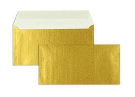FARBIGE BRIEFUMSCHLÄGE GOLD 110 X 220 MM (DIN LANG)   90 G/QM OFFSET   OHNE FENSTER   HAFTKLEBUNG   GERADE KLAPPE   100 STÜCK