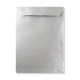FARBIGE BRIEFUMSCHLÄGE SILBER 229 x 324 mm (DIN C4) | 120 g/qm Offset | Ohne Fenster | Haftklebung | Gerade Klappe | 100 Stück