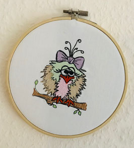 Wanddekoration  Vogelmädchen