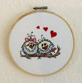 Wanddekoration  Vogelpaar