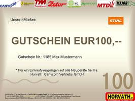 GUTSCHEIN HORVATH EUR 100,--