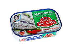 """Sardinen in pikantem Pflanzenöl - """"Ramirez Sardinhas em oleo vegetal picante"""""""