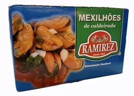 Muscheln Ramirez in Ragout Soße - Mexilhões de Caldeirada Ramirez