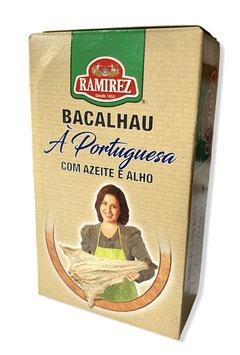 """Kabeljau in Olivenöl und Knoblauch - """"Ramirez Bacalhau à Portuguesa com Azeite e Alho"""""""