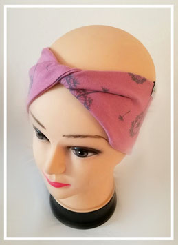 gedrehtes Stirnband, Kopfumfang 50cm