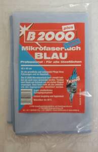 B2000 Mikrofasertuch blau (für alle Glasflächen)