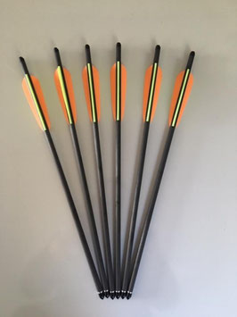 """SET: 6 Armbrustbolzen 16"""" Carbon von EK Archery"""