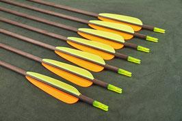 """SET: 12 Sportbogenpfeile 30"""" Carbon Spine 340 von EK Archery"""