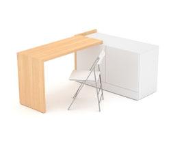 Schreibtisch Echtholzfurnier lackiert