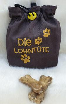 Leckerlibeutel Die Lohntüte Dunkelgrau/Gold