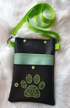 Gassi Tasche Pfote Zentangle Grün