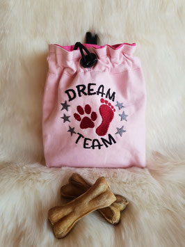 Leckerlibeutel Dream Team rosa/pink