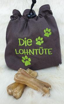 Leckerlibeutel Die Lohntüte Dunkelgrau/Grün