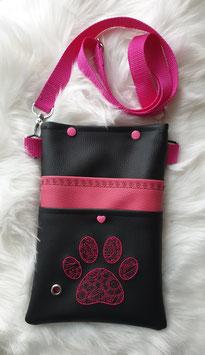Gassi Tasche Pfote Zentangle Pink