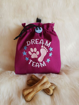 Leckerlibeutel Dream Team Magenta/beige