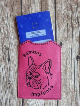 Impfpass Französische Bulldogge Pink