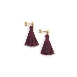 Helen Earrings Gold & Burgundy