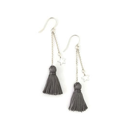 Polly Earrings Silver & Grey