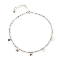 Stella Necklace Silver & Grey