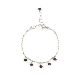 Katrina Bracelet Silver & Burgundy