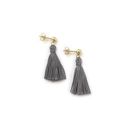 Helen Earrings Gold & Grey