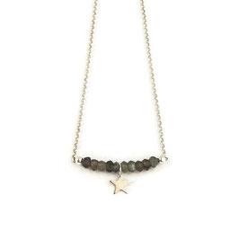 Malina Necklace Silver & Grey