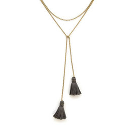 Polly Necklace Gold & Grey