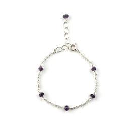 Rosie Bracelet Silver & Violet