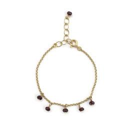 Katrina Bracelet Gold & Burgundy