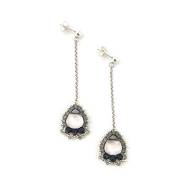 Anna Earrings Silver & Black