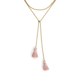 Polly Necklace Gold & Light Pink