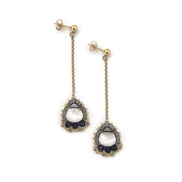 Anna Earrings Gold & Black