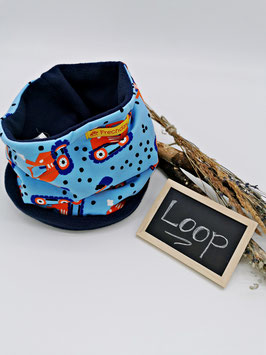 Winter Loop Bagger Orange Hellblau