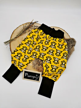 Pumphose Affe Gelb