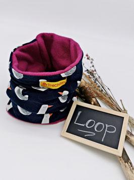 Winter Loop Möwe Blau