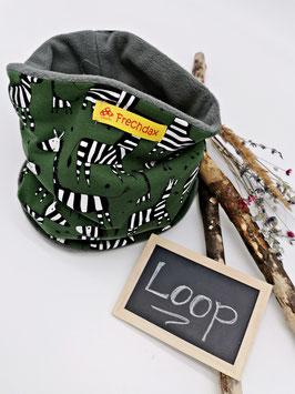 Winter Loop Zebra Grün