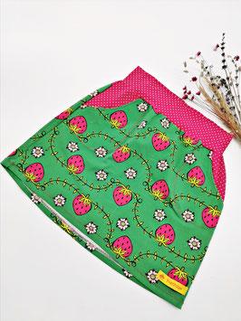 Jersey Rock mit Taschen Erdbeere Grün