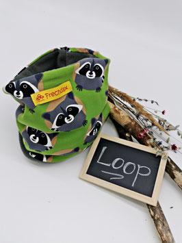 Winter Loop Waschbär Grün