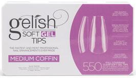 Soft Gel Tips - Medium Coffin