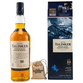 Talisker 10 + 4 Whiskysteine 0,7l, 45,8%