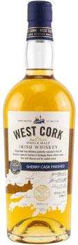 West Cork Single Malt Sherry Cask Finish 0,7l, 43,0%
