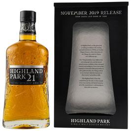 Highland Park 21 Jahre November 2019 release 0,7l, 46,0%