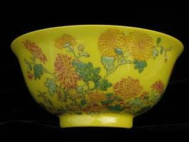 Тарелочка с осенними цветами и стихами