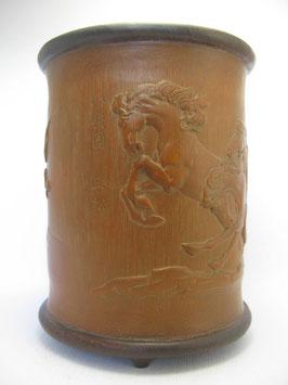 """Мерный стакан для риса """"Восемь лошадей"""" (бамбук)"""